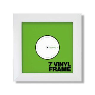 Glorious Vinyl Frame Set 7'' White - Front View